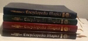 AD&D 2nd Ed Encyclopedia Magica Vol 1-4 Set 1st Printing Leatherette Ribbon TSR