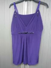 Embellished Dark Purple Camisole Top - Size 18-20 - 100% Cotton - Ann Summers