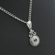 mm For Women Bohemia Chain Gift Snap Button Jewelry Crystal Pendant Necklace 12