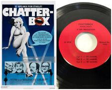 1976 Chatterbox lip 45 record radio ad commercial spots Movie greyeagle film Vtg