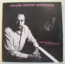 """33T Claude Michel SCHONBERG Disque LP 12"""" AUTANT D'AMOUR EN UNE SEULE FOIS..."""