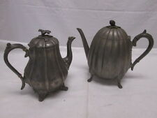 19th Century Pewter Tea/Coffee Pots Reed & Barton Thomas Otley Sheffield Ornate