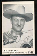 WILF CARTER Original Vintage RCA Victor 1950s C & W Arcade Exhibit Card NM