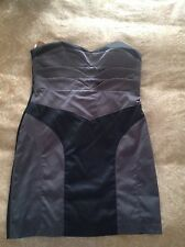 Cooper Street Black and Charcoal Strapless Dress Size 14