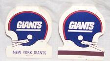 NEW YORK GIANTS--2 HELMET SHAPED NFL MATCHES--NEW----COLLECTORS ITEM