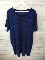 HOBBS Jumper Dress - Size UK14- Blue & Black - Great Condition - Women's
