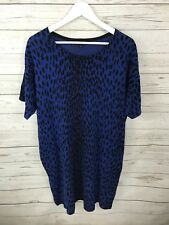 HOBBS Jumper Dress - Size UK14- Blue & Black - Great Condition - Women's