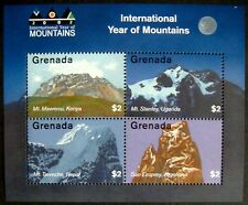 2002 MNH GRENADA YEAR OF THE MOUNTAINS STAMP SHEET LANDSCAPE SCENERY MT TAWECHE