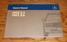 Original 1987 Mercedes Benz 190E 2.3 2.6 Owners Operators Manual 87