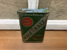 Vintage Burley And Bright Half And Half Tobacco Tin Litho Tax Stamp Old Can
