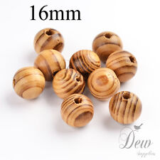 20 x 16mm wood beads unpainted wooden ball round burly wood