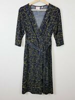 [ LEONA EDMISTON ] Womens Floral Print Faux Wrap Dress  | Size AU 12 or US 8