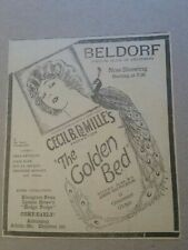 1925 The Golden Bed Movie Newspaper Ad