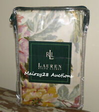NEW Ralph Lauren WENTWORTH Sateen FLORAL Shabby Chic EURO PILLOW SHAM ~ Rare!