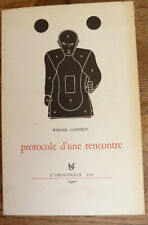 WERNER LAMBERSY PROTOCOLE D'UNE RENCONTRE FAGNE L'originale 100 E.O. ENVOI 1/75