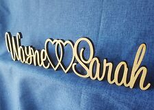 Personalized custom wedding table plaque Name&Name freestanding wooden letters