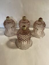 4 Homco Lavender Amethyst Purple Diamond Bottom Votive Cup Candle Holders