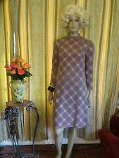 VINTAGE 1940's Style tartan / selezionare Stampa Abito circa taglia 10