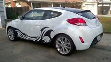 Fits HYUNDAI Veloster Turbo Rally Edition Custom Decals Vinyl Car Decals in SET