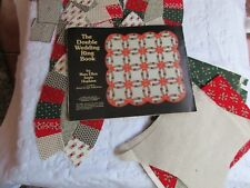 ESTATE DOUBLE WEDDING RING QUILT HAND SEWN PCS~PARTIAL TOP~FINISH CRAFT BOOK!