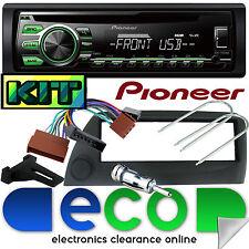 Ford KA Pioneer DEH-1700UBG CD MP3 USB AUX Car Stereo & Black Fascia Fitting Kit
