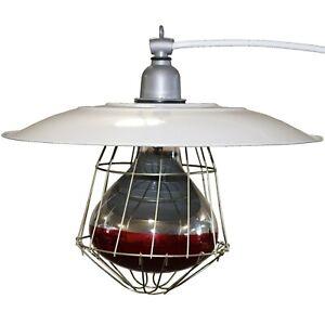 "INDUSTRIAL 12"" BROODER LAMP FIXTURE CHICKEN COOP HOUSE CHICK WARMER HEAT LIGHT"