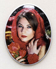 Porcelain 7x9Cm Ceramic Memorial Photo Plaque for Grave - Lifetime Guarantee