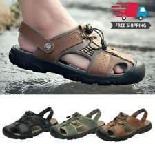 US Size 15 Mens Closed Toe Sandals Travel Beach Trekking Hiking Slippers Casual