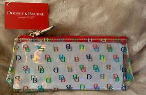 Dooney & Bourke Clear Acrylic Multicolor DBPouch/Cosmetic Bag/makeup Case New