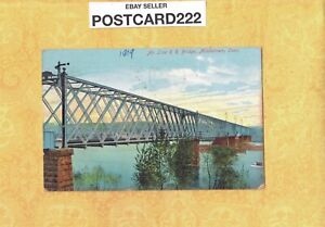 CT Middletown 1909 antique postcard AIR LINE RAILROAD BRIDGE to Brooklyn NY