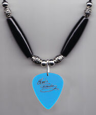 Elvis Presley Signature Clear Blue Guitar Pick Necklace