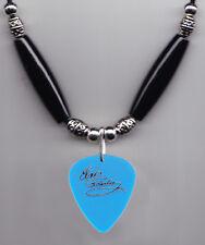Elvis Presley Signature Clear Blue Guitar Pick Necklace