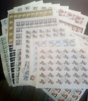 35 sheets of postage stamps of the USSR 1979-1981. СТО