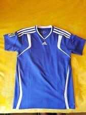 Boys Adidas Large 13-14 MLS Climacool T Shirt Blue Soccer Training Short Sleeve