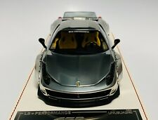1/18 D&G MS Davis & Giovanni LB Widebody Ferrari 458 Chrome Silver