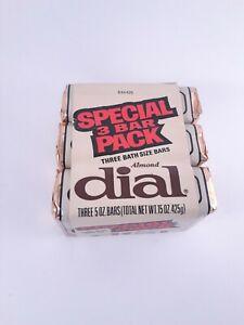 Vintage Almond Dial 5 Oz Bar Soap 3 Pack **NEW**