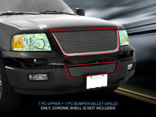 Fits 2003-2006 Ford Expedition Billet Grille Grill Combo