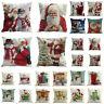 4PCS/set Christmas Santa&Snowman Pillow Case Throw Cushion Cover Home Decor