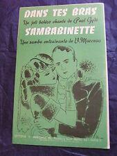 Partition Dans tes bras de Paul Gydé Sambabinette de V. Marceau