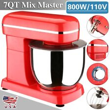 6 Speed Electric Food Stand Mixer 7QT Tilt-Head Bowl Stainless Steel Food Mixers