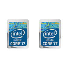 "Intel Core i7 Generation Blue 1""x0.75"" Lot of 2 Computer / Laptop Case Stickers"