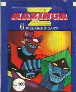 BUSTINA DI FIGURINE - MAZINGA Z 1980 - ED. FI.MER. MILANO - PIENA SIGILLATA