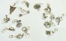Clip on Charms for Bracelet - Listing 2, Lots to choose - Tibetan Silver