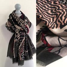 Large Leopard Print Scarf Brown Tribal Animal Zebra Big Long Cotton Wrap Shawl