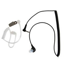 3.5MM Port Listen Only Earpiece Single Earphone Headset Clear Acoustic Tube Plug