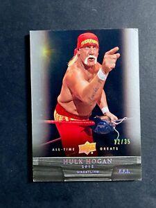 2012 Upper Deck All Time Greats SILVER /35 Hulk Hogan #89
