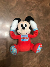 "DISNEY STORE Baby Peek-A-Boo Talking 10"" Plush - Mickey Mouse (c1)"