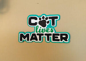 Cat Lives Matter title paper piecing Premade Scrapbook Pages