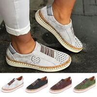 Women Summer Casual Breathable Loafers Shoes Ladies Slip On Trainers Pumps Shoes
