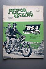 Mag: Motor Cycling Feb 25 1954 Oscar Hedstrom/Charlie Dodson/Enfield 500 Twin